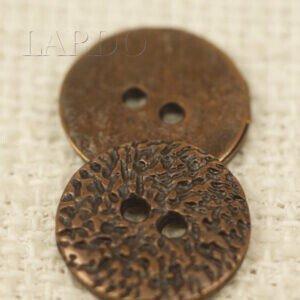 Пуговица металл ∅ 1,8 см цвет бронзовый