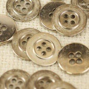 Пуговица металл светлый никель ∅ 1,7 см