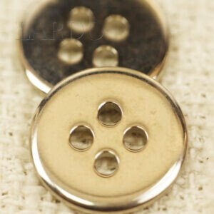 Пуговица металл светлый никель ∅ 1,8 см