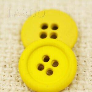 Пуговица металл прорезиненная ∅ 1,5 см жёлтого цвета