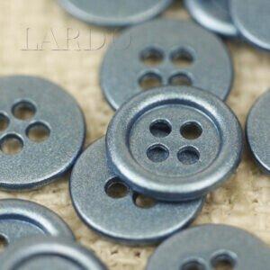 Пуговица металл серо-голубая ∅ 1,2 см