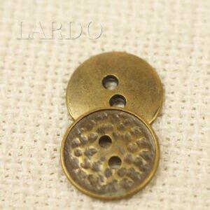 Пуговица металл цвет бронзовый ∅ 1,5 см