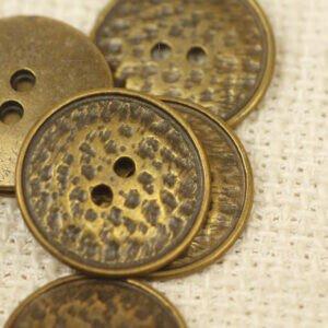Пуговица металл ∅ 2,0 см цвет бронзовый