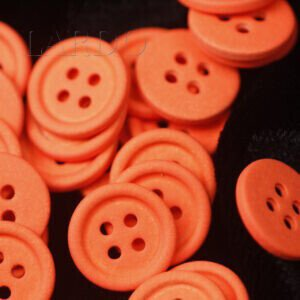 Пуговица металл оранжевого цвета ∅ 1,2 см
