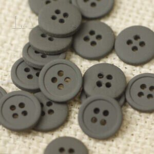 Пуговица металл ∅ 1,0 см серого цвета