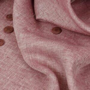 Лён костюмный брусничный Италия Состав: лён 100 % Плотность ≈ 250 г/м ² Ширина 134 см