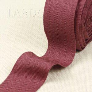 Киперная лента хлопок 100 % бордовая шир. 4,2 см