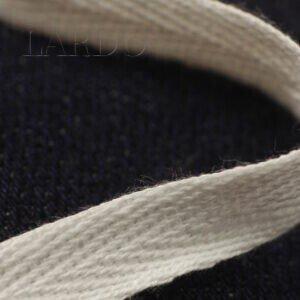 Киперная лента хлопок 100 % молочного цвета шир. 1,0 см