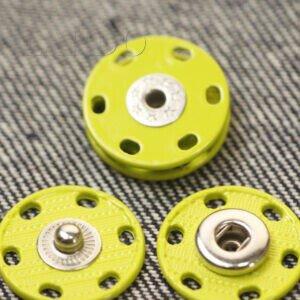 Кнопка металл пришивная ∅ 2,0 см жёлтого цвета