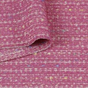 Костюмная ткань шанель розовая фуксия Италия Состав: шерсть 67 %, п/э 33 % Плотность ≈ 370 г/м ² Ширина 156 см