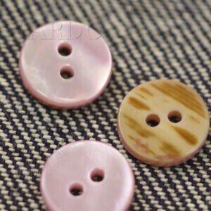 Пуговица перламутр ∅ 1,2 см розового цвета
