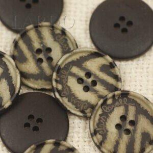 Пуговица керамика ∅ 2,2 см коричнево-бежевая