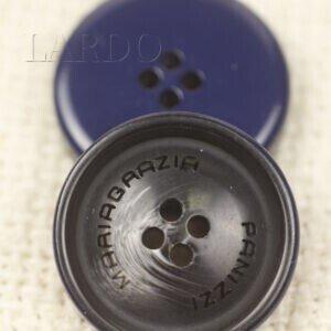 Пуговица пластик MARIA GRAZIA PANIZZI ∅ 2,2 см сине-чёрного цвета