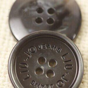 Пуговица LIU JO JEANS перламутр ∅ 2,6 см чёрного цвета