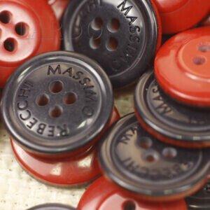 Пуговица пластик MASSIMO REBECCHI ∅ 2,0 см красно-чёрная