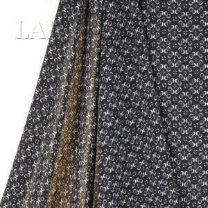 117 Вискоза крэш плательная чёрно-белая