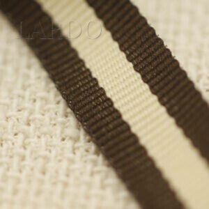 Репсовая лента коричнево-бежевая шир. 1,5 см
