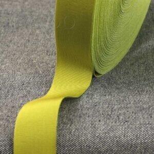 Репсовая лента светло-оливкового цвета Состав: хлопок 50 %, вискоза 50 % шир. 3,0 см