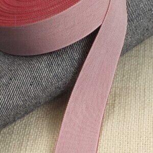 Репсовая лента розово-коралловая шир. 2,5 см