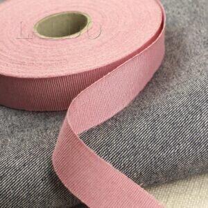 Репсовая лента вискоза хлопок розового цвета шир. 2,5 см