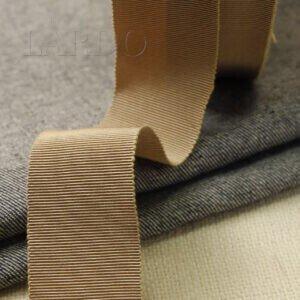 Репсовая лента вискоза хлопок светло-коричневого цвета шир. 4,0 см