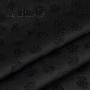 Костюмная ткань чёрная бархатные цветы хлопок с шёлком Италия Состав: хлопок 70 %, шёлк 30 % Плотность ≈ 400 г/м ² Ширина 136 см