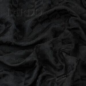 Жаккард чёрный Италия Состав: п/э 58 %, вискоза 42 % Плотность ≈ 125 г/м ² Ширина 152 см