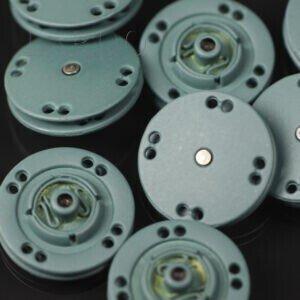 Кнопка металл пришивная ∅ 2,0 см серого цвета