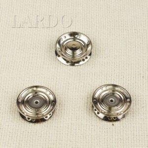 Кнопка металл пришивная ∅ 3,0 см никель
