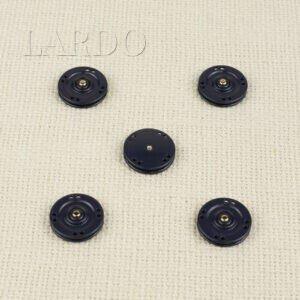 Кнопка металл пришивная ∅ 2,0 см синего цвета