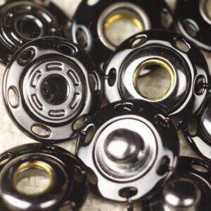 Кнопка металл пришивная ∅ 1,5 см тёмный никель