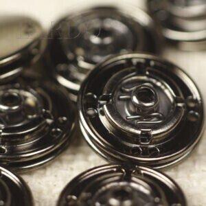 Кнопка металл пришивная ∅ 1,7 см тёмный никель