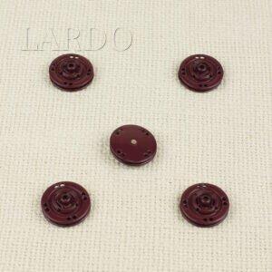 Кнопка металл пришивная ∅ 2,0 см бордового цвета