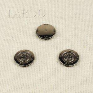 Кнопка металл пришивная ∅ 2,5 см тёмный никель