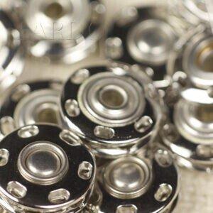 Кнопка металл пришивная ∅ 1,5 см никель