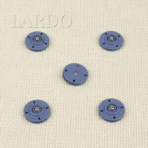 Кнопка металл пришивная ∅ 2,0 см голубая