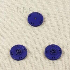 Кнопка металл пришивная ∅ 2,5 см василёк