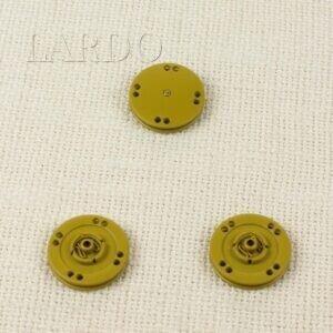 Кнопка металл пришивная ∅ 2,5 см жёлтого цвета