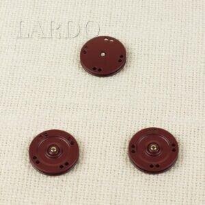Кнопка металл пришивная ∅ 2,5 см бордового цвета