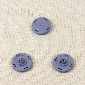 Кнопка металл пришивная ∅ 2,5 см голубая