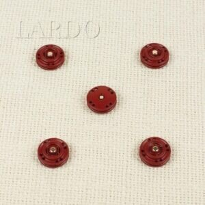 Кнопка металл пришивная ∅ 1,5 см красного цвета