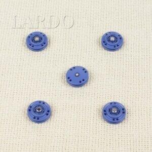 Кнопка металл пришивная ∅ 1,5 см тёмно-голубого цвета