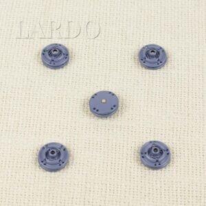 Кнопка металл пришивная ∅ 1,5 см серо-голубого цвета