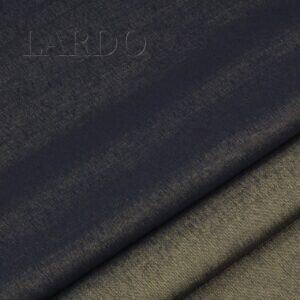 Костюмная ткань двусторонняя шерсть с хлопком синяя/бронзовый меланж Италия Состав: шерсть 77 %, хлопок 23 % Плотность ≈ 270 г/м ² Ширина 155 см