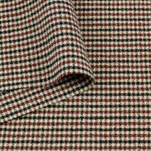 Шерсть стретч костюмная красно-чёрная клетка Италия Состав: шерсть 95 %, эластан 5 % Плотность ≈ 270 г/м ² Ширина 120 см