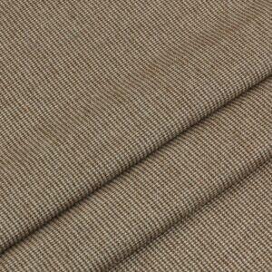Шерсть костюмная в клетку пепита коричневая Италия Состав: шерсть 100 % Плотность ≈ 175 г/м ² Ширина 148 см