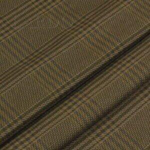 Шерсть костюмная в клетку тартан хаки Италия Состав: шерсть 100 % Плотность ≈ 210 г/м ² Ширина 152 см