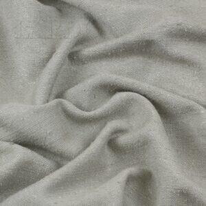 Костюмная ткань шёлк с вискозой серо-жемчужная