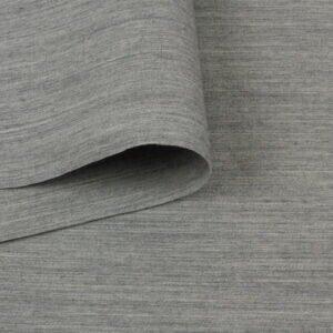 Костюмная шерсть серый меланж Италия Состав: шерсть 93 %, синтетические волокна 7 % Плотность ≈ 235 г/м ² Ширина 162 см