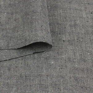 Лён костюмный чёрно-белая диагональ Италия Состав: лён 100 % Плотность ≈ 270 г/м ² Ширина 140 см